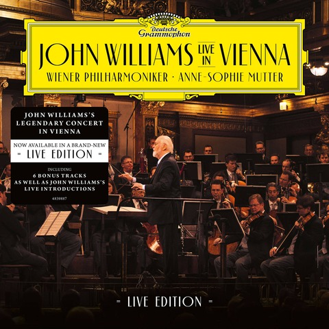 √John Williams In Vienna - Live Edition (2CD) von John Williams/Wiener Philharmoniker/Anne-Sophie Mutter - 2CD jetzt im Deutsche Grammophon Shop