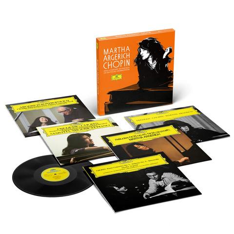 Sämtliche Chopin Solo- und Konzertaufnahmen für die Deutsche Grammophon (Ltd. Edition) von Martha Argerich - 5LP Box jetzt im Deutsche Grammophon Shop