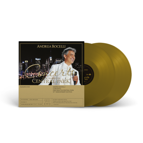 Concerto - One Night In Central Park - 10th Anniversary (Limited 180g Gold 2LP) by Andrea Bocelli - 2LP - shop now at Deutsche Grammophon store