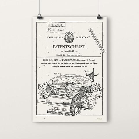 √Patentschrift von Deutsche Grammophon - poster jetzt im Deutsche Grammophon Shop